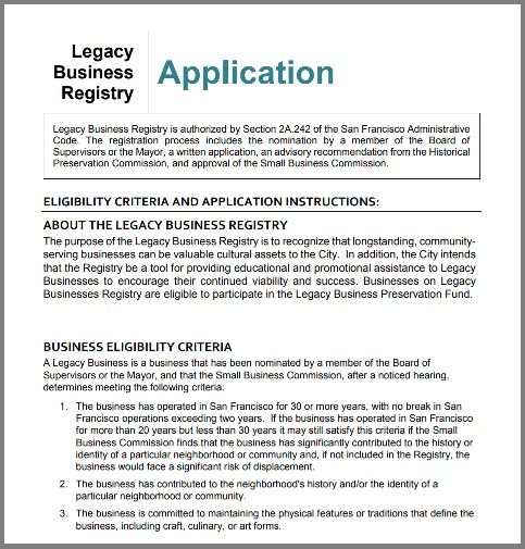 Legacy Business Application