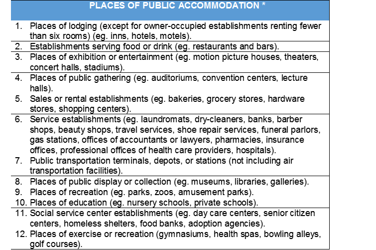 Public accommodations